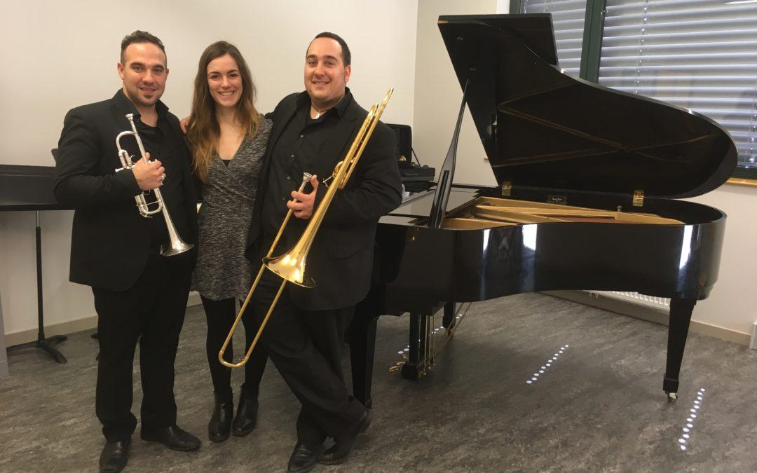 Piano, trombonne et trompette
