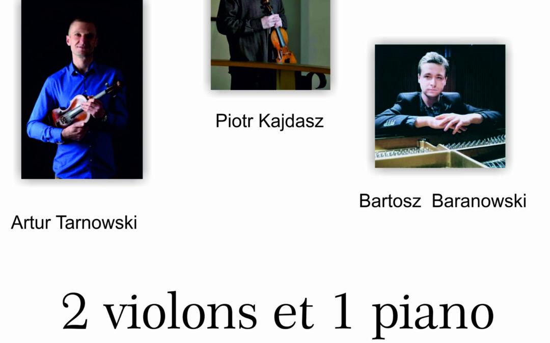 2 violons et 1 piano