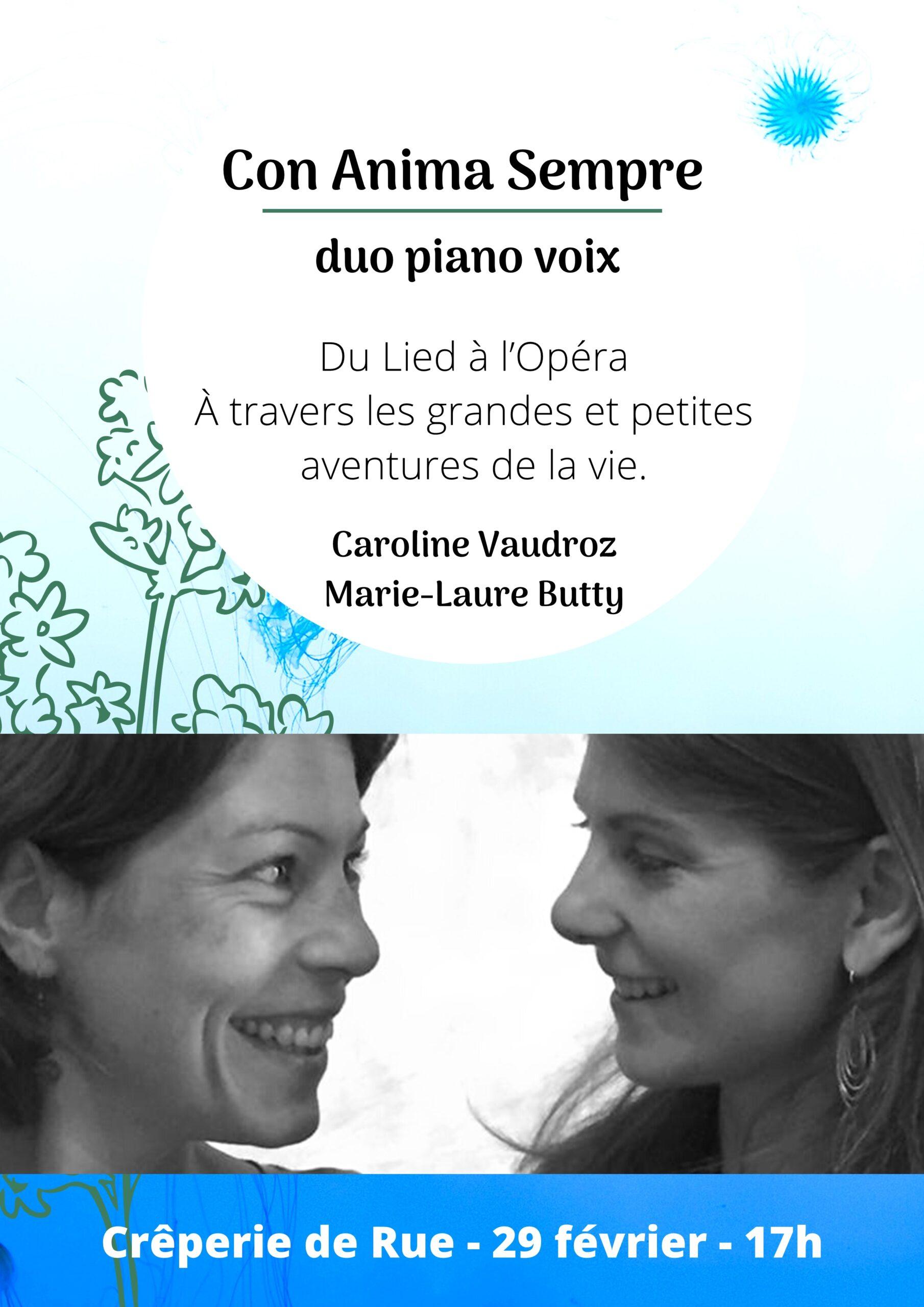 Con Anima Sempre  -  Duo piano voix